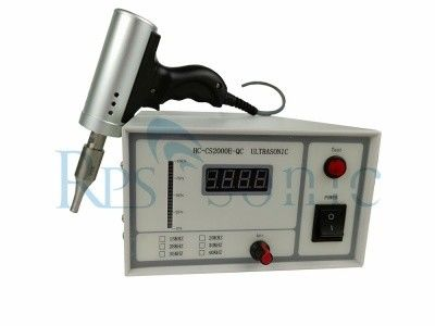 35Khz Pistol Type Ultrasonic Welding Equipment For Polyester Fabric Welding
